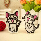 2Pcs Sweet Twin Cat DIY Embroidery Cloth Iron On Patch Sew Motif Applique Cute