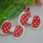 20/40/200pcs Cute Padded dot bows Appliques lots mix-4 Free Shipping A020