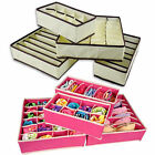New 4 Pcs Practical Storage Box Container Drawer Divider Lidded Closet Boxes L0