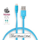 Short Long GENUINE Certified Flat iPhone charger lightning cord USB data cable