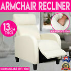 Deluxe  Padded Linen Fabric Armchair Recliner High Resilience Foam Cinema Lounge