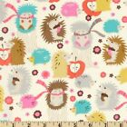 FOX WOODS HEDGEHOGS CREAM MICHAEL MILLER  SEWING CRAFT QUILT FABRIC Free Oz Post