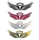 "3D HALO WINGS Metallic Sticker Emblem 2"" x 6.25"" Car Truck Motorcycle Accessory"
