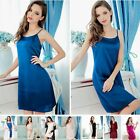 Womens 16 Momme 100% Pure Silk Babydoll Chemsie Lingerie Dress Sisters-Silk