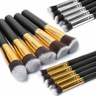 Kaizm 10pcs/set Pro Makeup Brushes Cosmetic Foundation Blending Pencil Kabuki