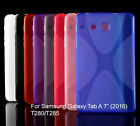 """Screen Protector/X Style Skin Soft Back Case For Samsung Galaxy Tab A 7""""(2016)"""