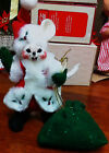 """CUTE 2005 ANNALEE CHRISTMAS MOUSE IN SANTA SUIT STANDING DOLL 7"""" VGC"""