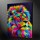 ABSTRACT LION CANVAS PICTURE PRINT WALL ART FREE FAST DELIVERY