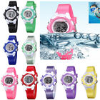 Boys Girls Students Waterproof Sport Digital Watch Kids Silicone Wristwatch HOT