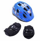 Raleigh Mystery Blue Helmet & Safety Knee Elbow Pads Set