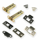 Heavy Duty Tubular Mortice Door Latch 3 and 4 Inch Chrome and Black Fittings New