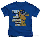 awesome kids clothes - Juvenile: Garfield - Awesome Apparel Kids T-Shirt - Royal