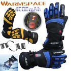 Warm Electric Heated Hands Warmer Smart Gloves W/ 4000mAh Rechargeable Battery