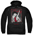 Hoodie: Betty Boop - Captivating Apparel Pullover Hoodie - Black $42.99 USD