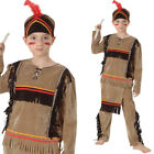 Native American Boy Costume – Fancy Dress Character Historical Cowboy Indian BN