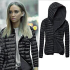 Womens Winter Warm Slim Coat Jacket Thick Parka Overcoat Trench Hooded Outwear