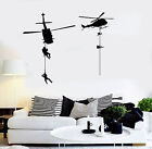 Vinyl Wall Decal Military Helicopter Air Force Army War S...