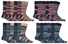 Sock Snob - 6 Pack Mens Cotton Rich Quality Colourful Striped Formal Dress Socks