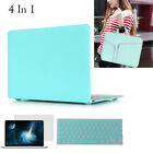 4In 1 Rubberized Hard Shell Case Cover+KeyBoard+Screen Protector+Bag For Macbook