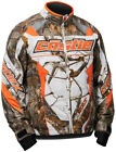 CastleX Youth Realtree AP White/Orange Bolt G4 Snowmobile Jacket Snocross