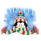 Penguin with Winter Scarf  Sweatshirt/L/S Tshirt   Sizes/Colors