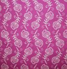 CONTEMPO FEATHERS LEAVES  FUSCHIA WHITE QUILT SEWING FABRIC *Free Oz Post