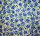 SPRING IN VERSAILLES BLUE FLOWERS SEWING FABRIC *Free Oz Post