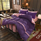 Purple Pink King Single Double Size Quilt Doona Duvet Cover Sets Bed Pillowcases