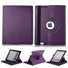 360 Rotating PU Leather Folio Case Smart Cover Stand For Apple iPad 2 3 4 Mini