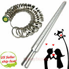 STEEL RING MANDREL GRADUATED 0-13 MARKED SIZER METAL JEWELRY SIZING TOOL STICK