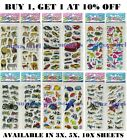 Children Kids Assorted Designs Stickers Party Bag Fillers Scrap Book Gift Toys