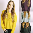 Oversized Boxy Jumper Womens Ladies Loose Long Sleeve Blouse Baggy Tops Sweater