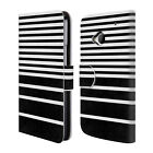 HEAD CASE DESIGNS DYNAMIC STRIPES LEATHER BOOK WALLET CASE COVER FOR HTC ONE M7