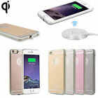 QI Wireless Charging Pad Receiver Case Fr Apple iPhone 5 6s 7 Plus Charger Cover