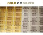 260 or 520 Personalised Address / Return Address Security Labels Silver or Gold