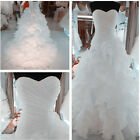 2015 New White/ivory Wedding Dress Bridal Gown Ball Size 6 8 10 12 14 16+ Custom