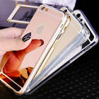 Ultra Thin Mirror Back Soft TPU Silicone Case Cover For Apple iPhone SE 6s +Film