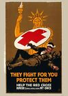 Art print POSTER / Canvas 1917-RED-They fight for you