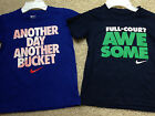 NEW LOT 2 NIKE S/S T-SHIRT Basketball theme Tees Tops Pick Boys Size 5 or 7 NWT
