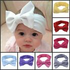 Kawaii Girls Children Soft Baby Cotton Bow Headband Hairband Stretch Hair Band