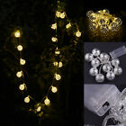 Golden Moroccan Chain Decorative Lamp With Batteries 10 LEDs Christmas Light