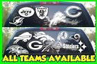 NFL Football Vinyl DECAL Car Truck Window STICKER Graphic All Teams NFL White on eBay