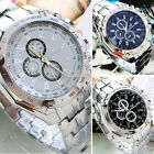 Men's Fashion Luxury Watch Stainless Steel Analog Quartz Sport /Women Wristwatch image