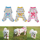 Cute Pet Dogs Bowknot Cotton Clothing Coat Dogs Puppy Cartoon Pajamas Jumpsuits