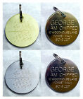 Engraved Pet Tags ID Disc Tag Cat Dog Puppy Kitten Metal Brass Silver + Ring