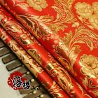 Kimono COS Gold Wrie Damask Cloth Wedding dress Phoenix flower Brocade Fabric