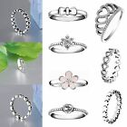 Brand Design Zircon 925 Silver Fashion Woman Wedding Jewelry New Rings Size 5-9