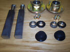 """Trailer Parts - Pair Of Atv Trailer Square Stubs Axles 200mm X 35 & Hubs 4"""" Pcd"""