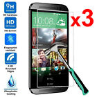 2Pcs 9H Tempered Glass Skin Screen Protector Protective Film Guard For HTC