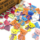 10/50/100 pcs Big Bear Wood Baby's /Kid's Buttons 23*32mm Sewing Craft Mix W164